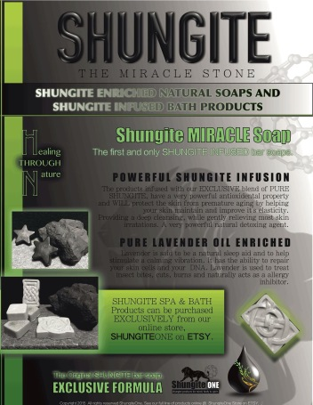 "Offering Shungite products that have been meticulously made, using only the finest all natural materials we can find. We offer innovative products and jewelry items specifically designed to stimulate the energy channels called the ""meridian system."" Getting Shungite to as many as possible is the primary mission, so we believe the prices should reflect that. Attenuating negative energy is a must in order to maintain HEALTH. Adding Shungite to your life is one of the greatest things you could do to protect and heal yourself."