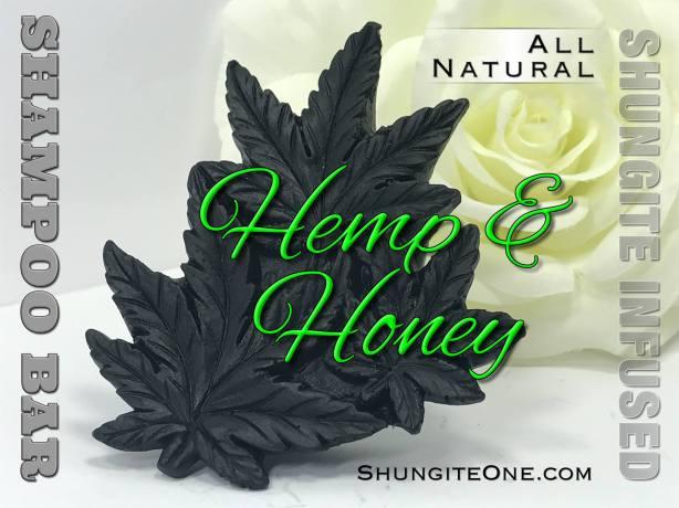 hemp honey shungitesoap